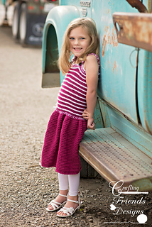 Swirly Whirly Child Sundress crochet pattern