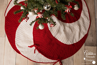 Christmas Tree Skirt Pattern.Peppermint Swirl Christmas Tree Skirt Pattern By Kate Wagstaff