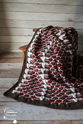 Queen of Hearts Afghan crochet pattern
