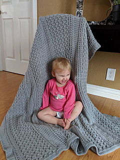 Cabled Zig Zag Throw Pattern test by Amber Bunker