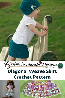 Diagonal Weave Skirt crochet pattern