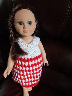 "Peppermint Candy 18"" doll dress"
