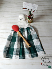Diagonal Dip Towel Top crochet pattern by Crafting Friends Designs