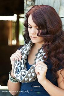 Mountain Lace Infinity Scarf crochet pattern