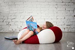 Peppermint Kiss Beanbag / Pouff crochet pattern by Crafting Friends Designs