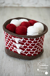 Queen of Hearts Basket crochet pattern by Crafting Friends Designs