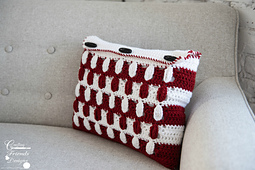 Pebbled Archway Reversible Rectangle Pillow Cover crochet pattern by Crafting Friends Designs