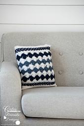 "Traveling Arrows 12"" x 12"" Square Pillow crochet pattern"