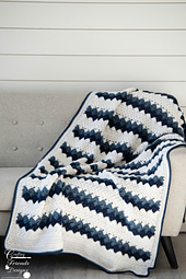 Traveling Arrows Throw crochet pattern by Crafting Friends Designs
