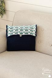 "Sea Breeze 12""x16"" Rectangle Pillow crochet pattern by Crafting Friends Designs"