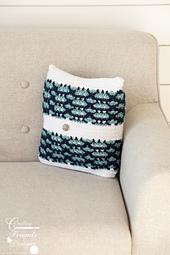 "Sea Breeze 12"" x 12"" Square Pillow crochet pattern"