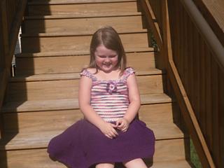Swirly Whirly Child Sundress crochet pattern test