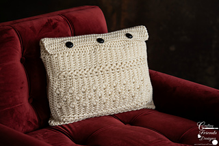 Braided Cable Block Rectangle Pillow crochet pattern