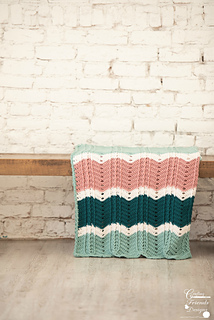 Braided Cable Chevron Afghan crochet pattern