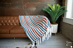 Ropes and Wheels Blanket crochet pattern