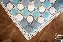 Puff Quilt Floor Blanket crochet pattern