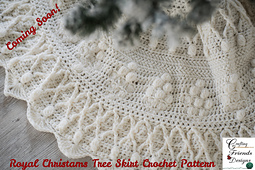 The Royal Christmas Tree Skirt crochet pattern is almost finished with testing and will be released soon