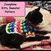 Josephine Kitty or Small Dog Sweater pattern
