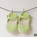 Baby Booties - Green Love Sandals pattern