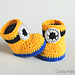 Minion Inspired Baby Booties pattern