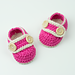 Baby Booties Pretty In Pink pattern