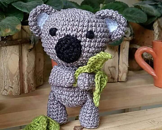 Koala Pepe Amigurumi | Elo7 | 258x320
