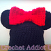 Mouse hat with bow pattern