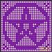 Filet Pentagram Pentacle Doily pattern
