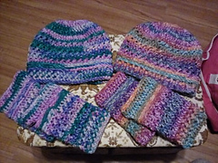 Yarn is I Love This Yarn Prints (left) Day Dreamery (right) Instant Classic