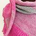 Pink and Grey Striped Shawl pattern