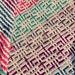 Cuarto Throw Baby Blanket pattern