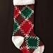 Pooled Mistletoe Stocking pattern