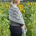 Puff Stitch Pocket Shawl pattern
