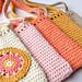 Phoneholder bag with motif pattern