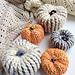 Brioche style two colour pumpkin pattern