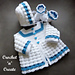 Raised Shell Baby Outfit pattern