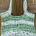 Garden Green Market Bag/Tote Pattern made with plastic yarn pattern