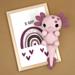 Amy the Axolotl pattern