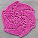 Lace spiral coaster pattern