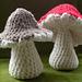 One piece toadstool pattern