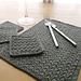 Grit stitch placemat & coaster set pattern