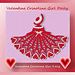 Valentine Crinoline Girl Doily (Item #0484) pattern