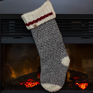 Polar Ridge Crochet Christmas Stocking