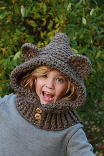 crochet bear hood