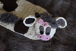 Crochet Cow Hat and Blanket