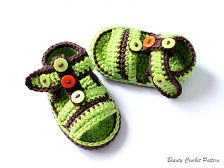 Ravelry: Baby Boy Sandals pattern by