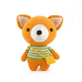 Ravelry: Tiko the Fox, free crochet pattern by Janine, stuffed toy ... | 320x320