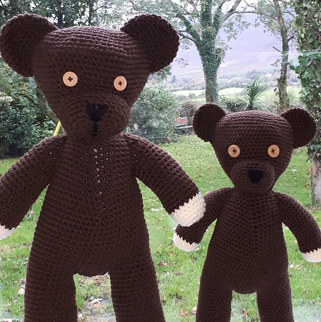 Mr Bean Teddy - 100% wool - 3 mm hook - Pattern by Andrea Gaida ...   640x637