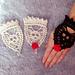 Crowned Skull Wristlets - Halloween pattern