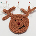 Tangled Rudolph applique pattern